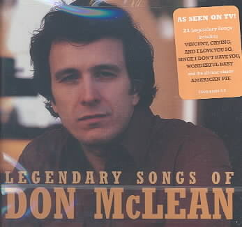 LEGENDARY SONGS OF DON MCLEAN BY MCLEAN,DON (CD)